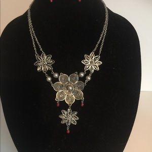 Jewelry - Boho Necklace and Earrings